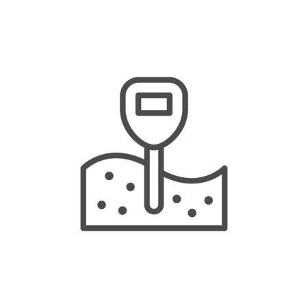 Hydrometer line outline icon and tool sign Illustration