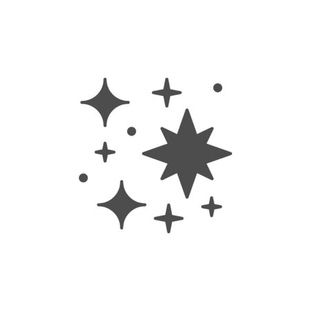 Sparkling and twinkling glyph icon