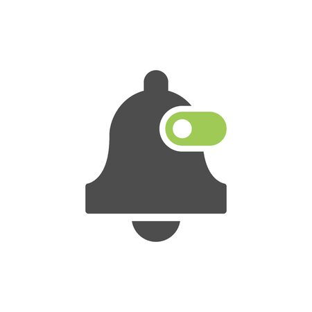 Bell turn on glyph icon