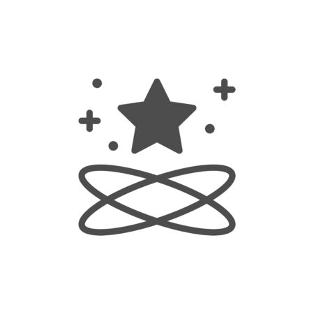 Star glyph icon and sparkle sign