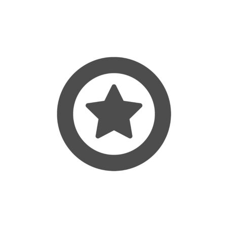 Star glyph icon and sparkle sign 向量圖像