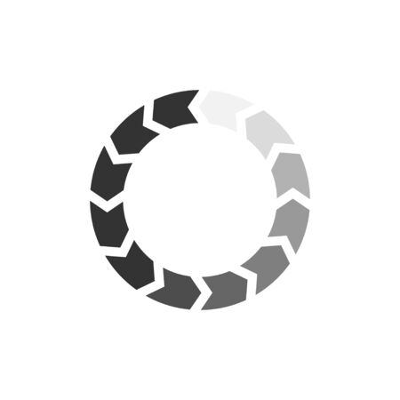 Loading progress or load circle icon isolated on white. Data download sign. Vector illustration