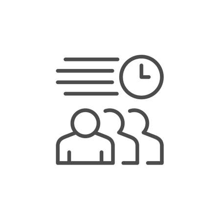 Meeting schedule line outline icon