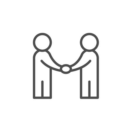 Partnership and collaboration line outline icon