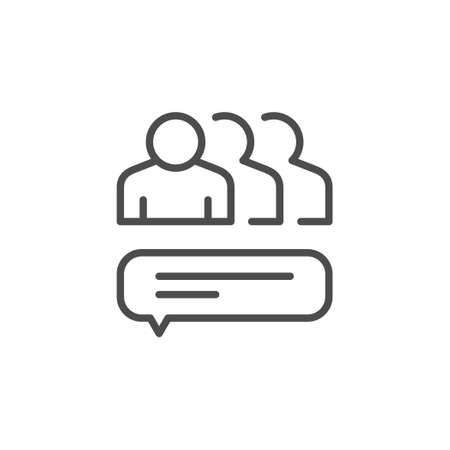 Group chat line outline icon 일러스트