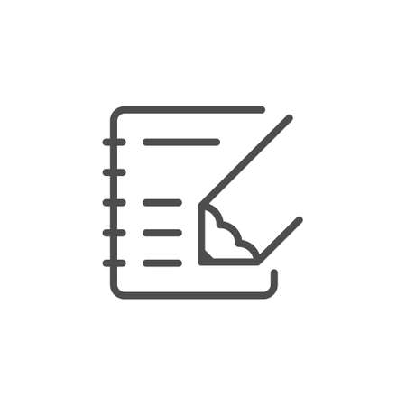 Note writing line outline icon