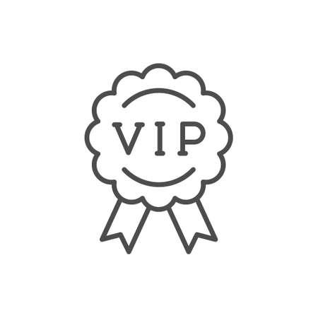 VIP badge line outline icon