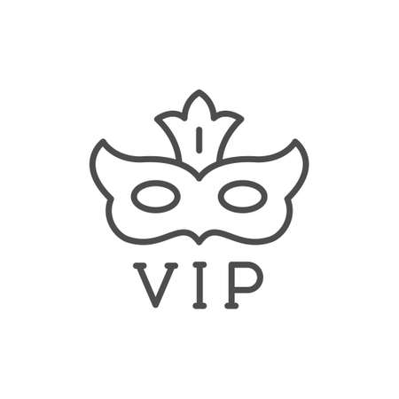 Anonymous VIP person line outline icon Vektoros illusztráció