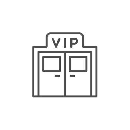 VIP entrance line outline icon Ilustracja