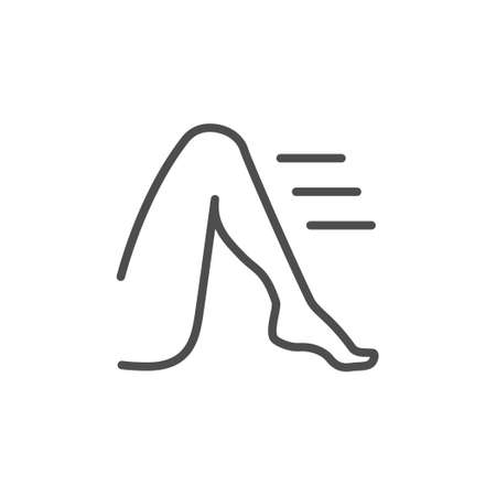 Leg or foot line outline icon 向量圖像
