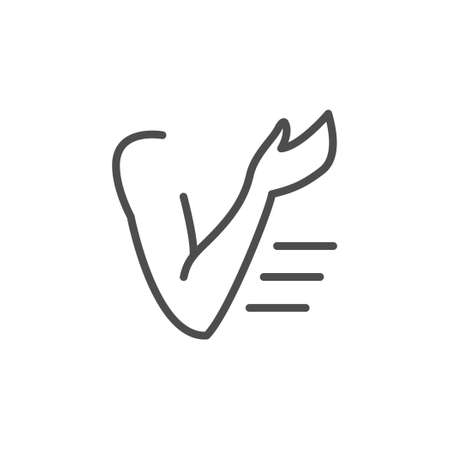 Hand or arm line outline icon 向量圖像