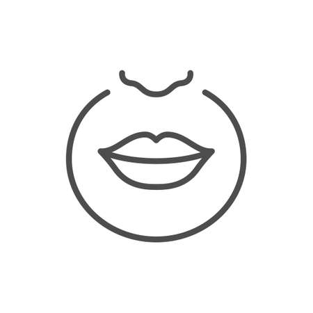 Upper lip hair removal line icon