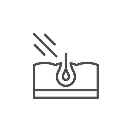 Laser hair removal line icon