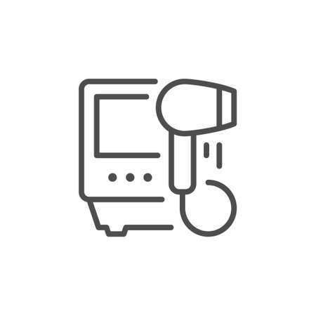 Hair removal appliance line icon