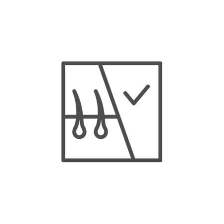 Hair removal line outline icon