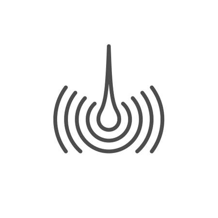 Hair follicle line outline icon