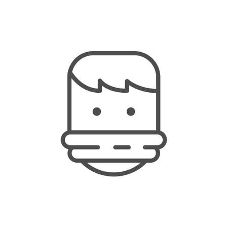 Tied hostage line outline icon
