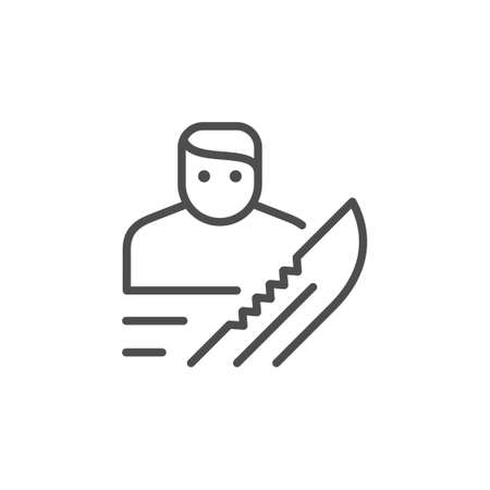 Robbery or burglary line outline icon