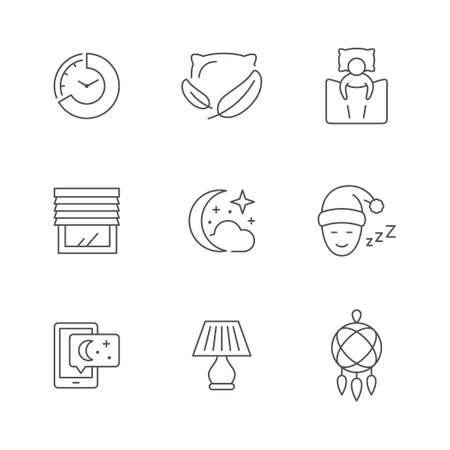 Set line icons of sleep Illustration