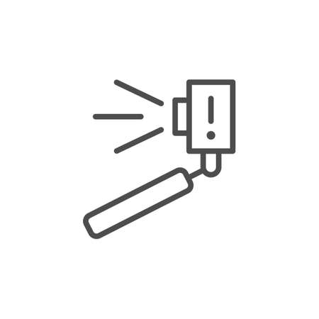 Selfie stick line outline icon