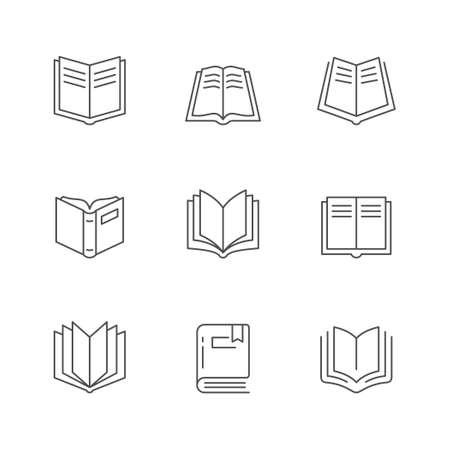Set line icons of book Standard-Bild - 154917358