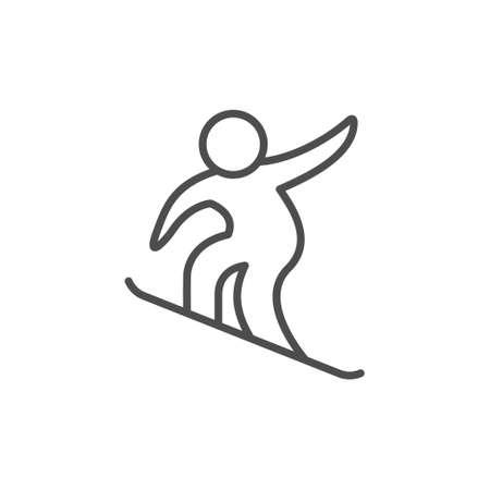 Snowboarding sport line outline icon Standard-Bild - 154898710