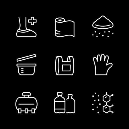 Set line icons of polyethylene or polythene Standard-Bild - 155232754