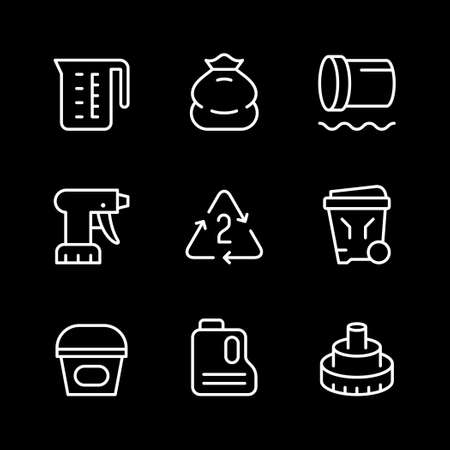 Set line icons of polyethylene or polythene Standard-Bild - 155232755