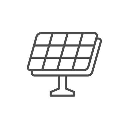Solar panel line outline icon Illustration