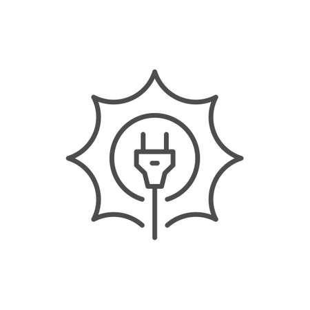 Solar energy line outline icon Standard-Bild - 155232757