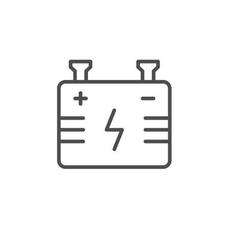 Battery line outline icon or energy sign Standard-Bild - 155232758