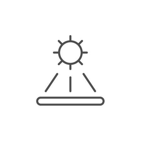 Solar energy line outline icon Standard-Bild - 155224561