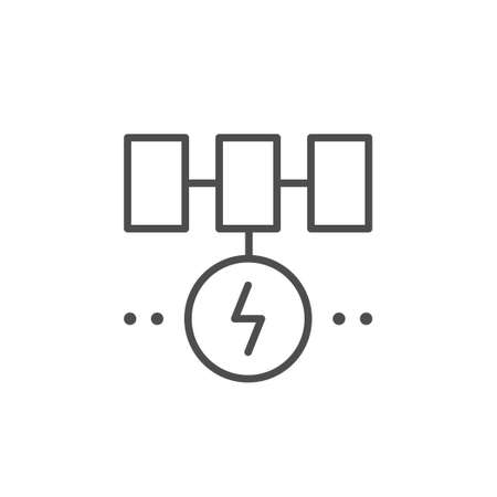 Solar energy system line outline icon