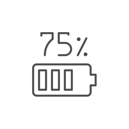 Battery charge line outline icon