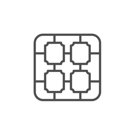 Solar panel cell line outline icon Standard-Bild - 155229652