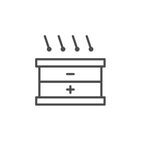 Solar panel scheme line outline icon Standard-Bild - 155228321
