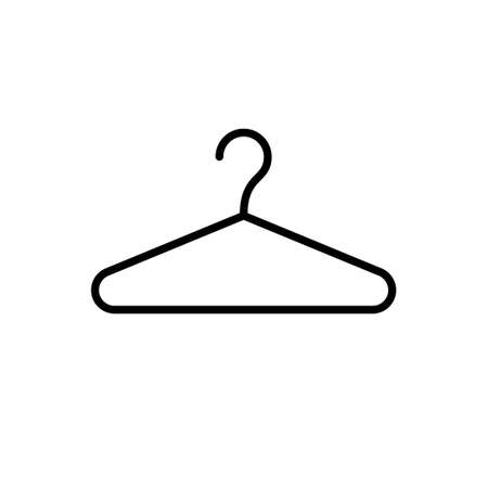Clothes hanger glyph icon or clothing sign Standard-Bild - 155540246