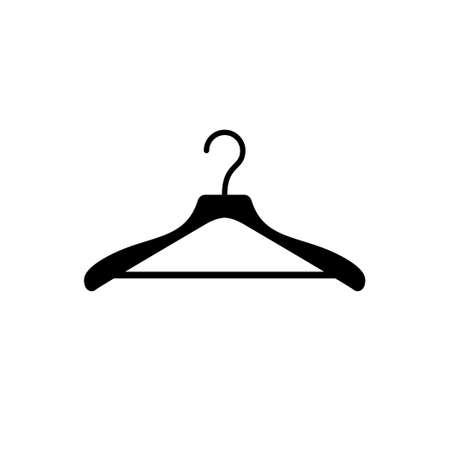Clothes hanger glyph icon or clothing sign Standard-Bild - 155540134