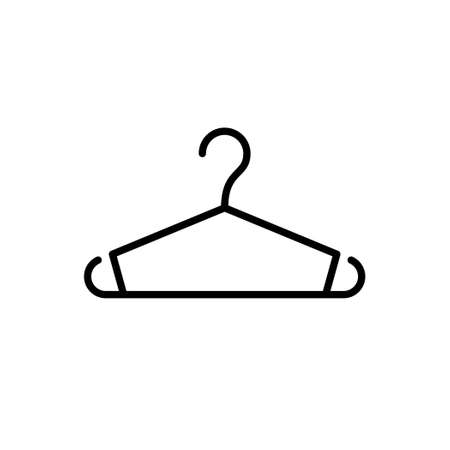 Clothes hanger glyph icon or clothing sign