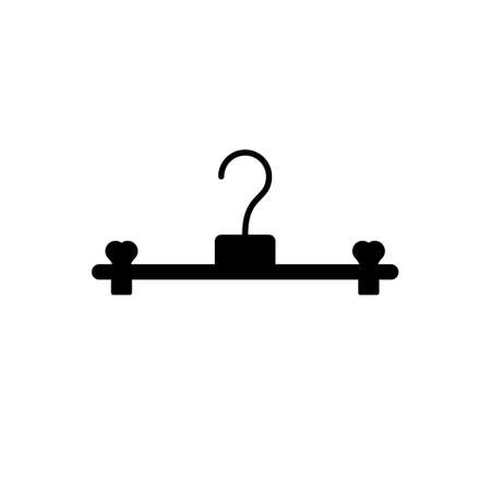 Clothes hanger glyph icon or clothing sign Standard-Bild - 155540168