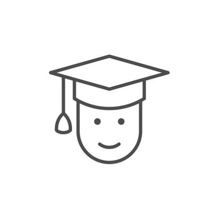 Graduate line outline icon or graduation sign Standard-Bild - 155564056