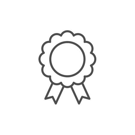 Quality badge line outline icon