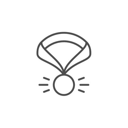 Medal with ribbon line outline icon Standard-Bild - 155540181