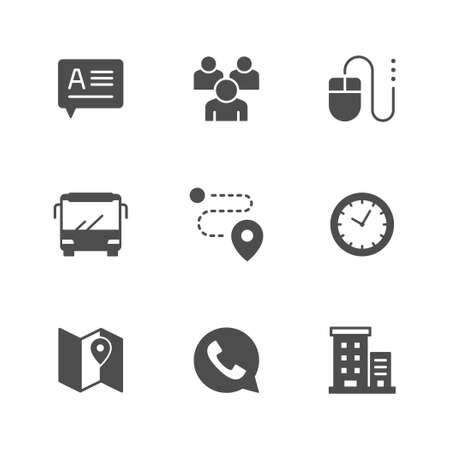 Set glyph icons of contact us Standard-Bild - 155666441