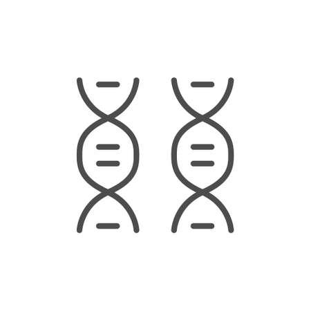 DNA molecule line outline icon