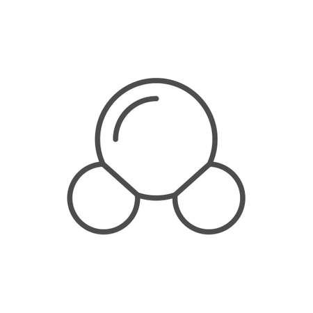 Molecule structure line outline icon Illustration