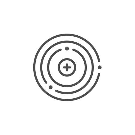 Atom structure line outline icon