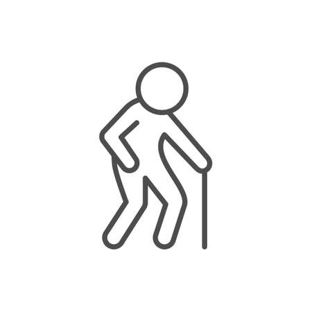 Old man line outline icon
