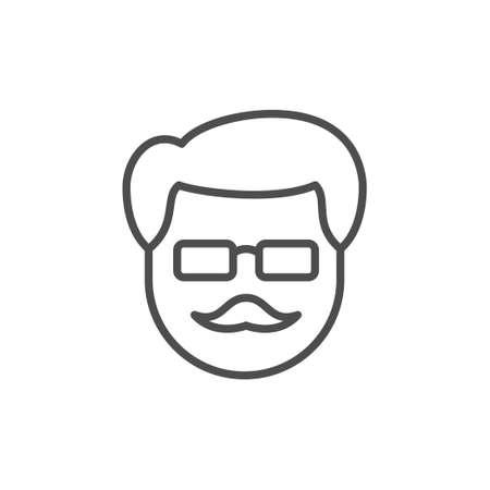 Old man line outline icon Standard-Bild - 155866344