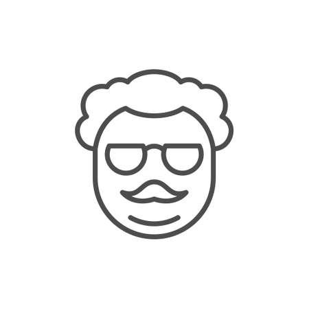 Old man line outline icon Standard-Bild - 155866347
